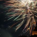 Kellerfest: 2013 Eröffnungsfeuerwerk auf unserer Burg.
