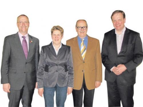 Vorsitzender Markus Schleicher, Schriftführerin Gabi Schmied, Kassierer Dieter Stemmler und der 2. Vorsitzende Walter Schäfer. Fotos: juba
